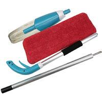 Balai Vapeur Avec Pulvérisation Multi-Fonction Mop Spray Pliable Plastique Bleu