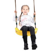 Siège Balançoire Portique Enfant Bébé En Plastique 40 x 17 x 4 cm Jaune