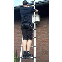 3,8M Echelle Télescopique Aluminium Portable Escabeau Pliable Multifonctions,150 kg Capacité