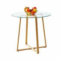 Table à manger ronde transparente Scandinave Φ80*75cm