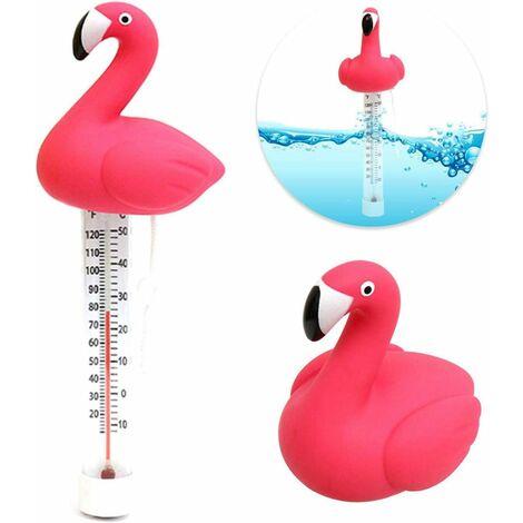 XueQiee Thermomètre De Piscine Flottant Thermometre Piscine Thermomètre À Eau Flamingo Flottant, pour Toutes Les Piscines Extérieures Et Intérieures Spas Jacuzz