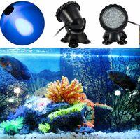 Projecteur Aquarium avec Base IP68 3.5W 12V Lampe Spot Eclairage Submersible Multicolore Angle Réglable Lampe Sous-Marine Led Submersible Décoration Bassin Piscine Aquarium