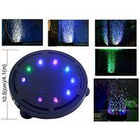Lampe à bulles pour aquarium avec pompe à air LED pour décoration de tortue