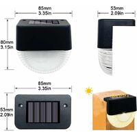 XueQiee Lot de 8 appliques murales solaires à LED pour extérieur - Étanche - Contrôle intelligent par capteur(blanc chaud)