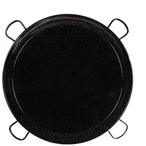 PLAT A PAELLA EMAILLE 80 cm 4 POIGNEES