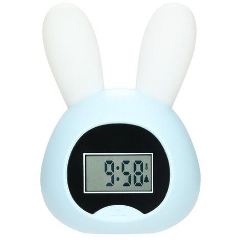 Small awakening light blue rabbit light blue alarm clock