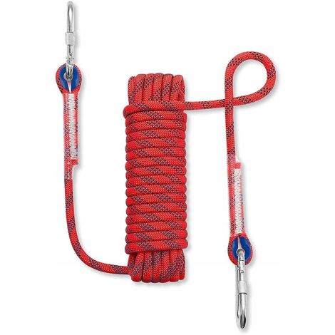 Climbing rope braided rope clothing rope climbing rope 20 meters red 12mm climbing rope