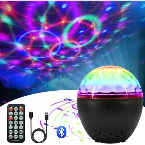 LED Disco Ball 16 Fitness Lighting Disco Lighting Effect With USB Party Light Cable With Bluetooth Speaker Disco Light Decoration with Disco DJ Party Birthday Decoration Remote