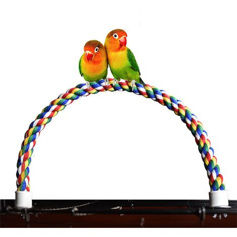 Parrot cotton rope climbing rope parrot cotton rope colorful ladder rotary cotton rope colored cage bird climbing rope cotton rope stick standing