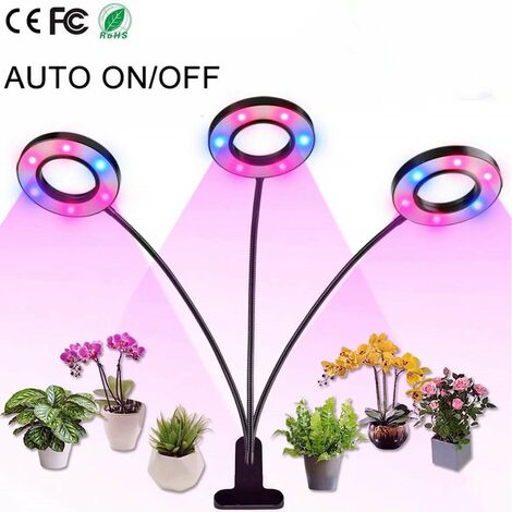 Plant Growth Light, LED Plant Light, Full Spectrum Double Head Filling Light (18W-double-head-red and blue)
