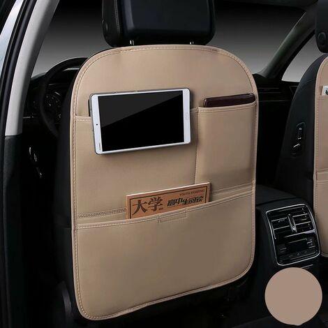 Car seat kip cushion, children's protective cushion, storage bag anti-dirt protective cushion, anti-kick rear wear cushion (beige)