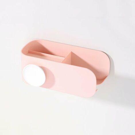 Hair Dryer Holder Free Punching Bathroom Toilet Storage Storage Holder Hair Dryer Holder Support (Flesh)