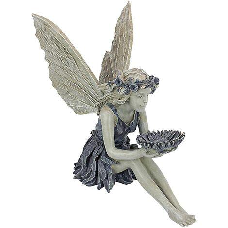 Garden Fairy Statue, Sunflower Garden Sculptures Resin Outdoor Statue Figurine For Outdoor Garden Lawn Garden Art Decoration