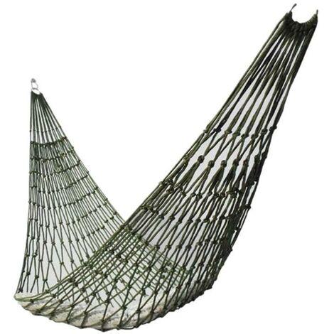 Portable Outdoor Sport Hammock, Outdoor Camping Hammock Mesh Net for Garden Beach Yard Travel Garden Swing Hanging Bed