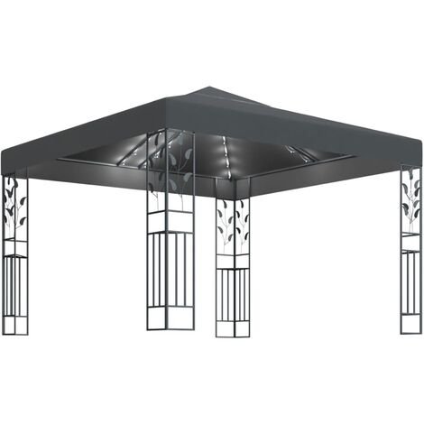Gazebo with String Lights 3x3 m Anthracite21514-Serial number