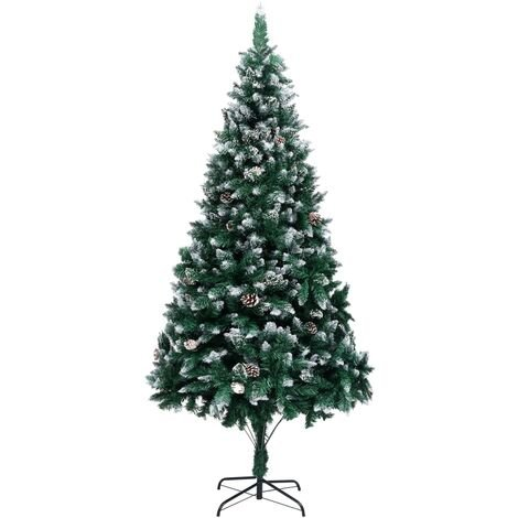Artificial Christmas Tree with Pine Cones and White Snow 240 cm26177-Serial number