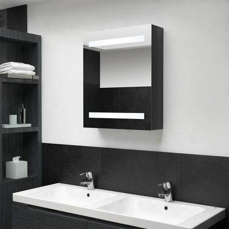 LED Bathroom Mirror Cabinet Shinning Black 50x14x60 cm28084-Serial number