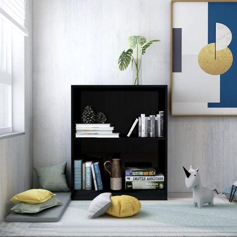Bookshelf High Gloss Black 60x24x74.5 cm Chipboard35750-Serial number