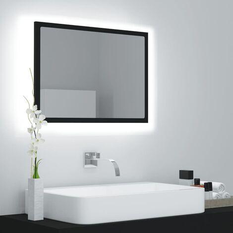 LED Bathroom Mirror Black 60x8.5x37 cm Chipboard37581-Serial number