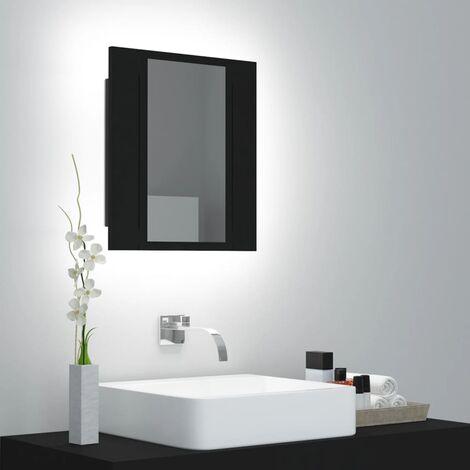 LED Bathroom Mirror Cabinet Black 40x12x45 cm37613-Serial number