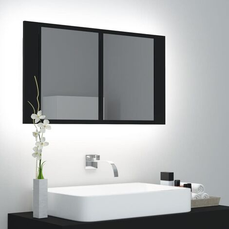 LED Bathroom Mirror Cabinet Black 80x12x45 cm37629-Serial number
