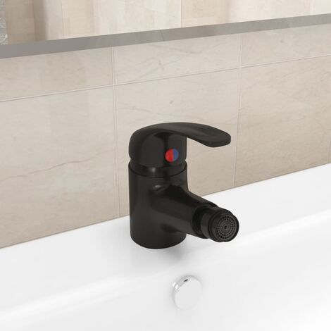 Bathroom Bidet Mixer Tap Black 13x12 cm7276-Serial number