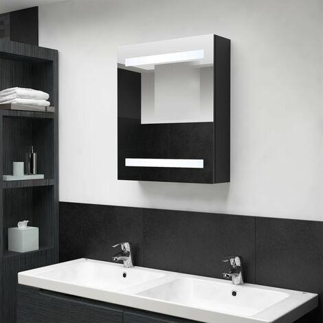 LED Bathroom Mirror Cabinet Black 50x14x60 cm28083-Serial number