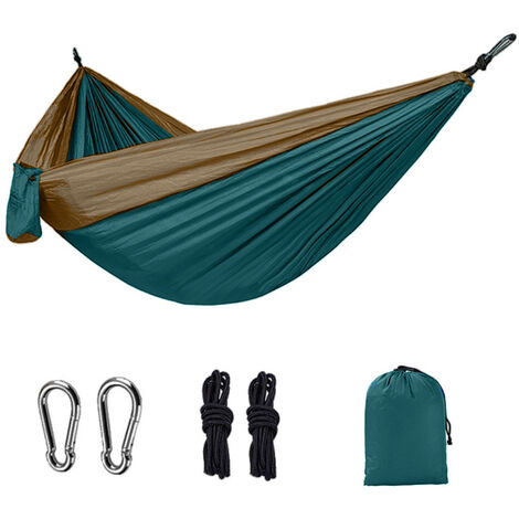 Nylon Hammock Double Camping Outdoor Color Lock Hammock Ultra-light portable nylon parachute fabric (a room