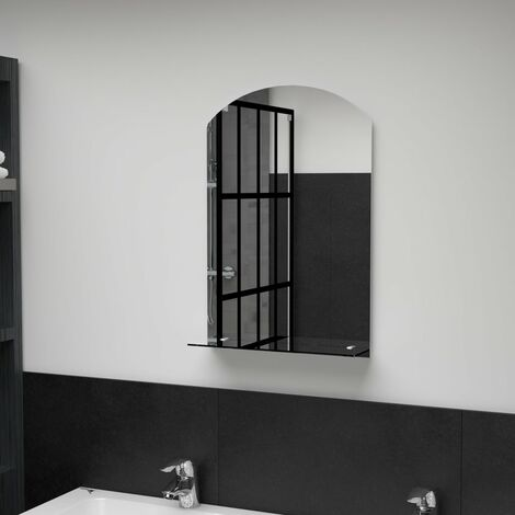 Wall Mirror with Shelf 40x60 cm Tempered Glass12236-Serial number