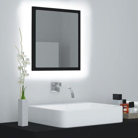 LED Bathroom Mirror Black 40x8.5x37 cm Chipboard37573-Serial number