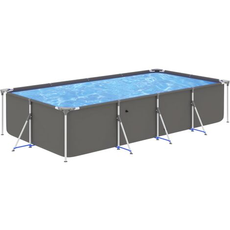 Swimming Pool with Steel Frame 394x207x80 cm Anthracite39502-Serial number