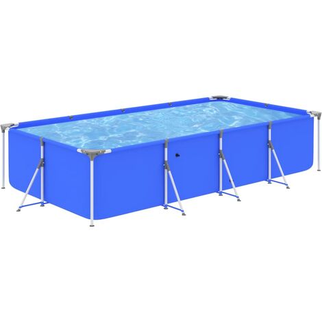 Swimming Pool with Steel Frame 394x207x80 cm Blue39497-Serial number