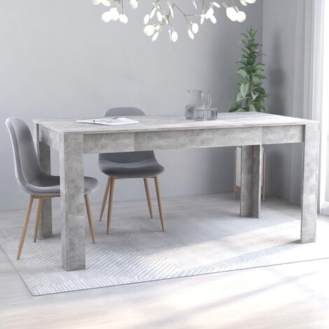 Dining Table Concrete Grey 160x80x76 cm Chipboard36163-Serial number