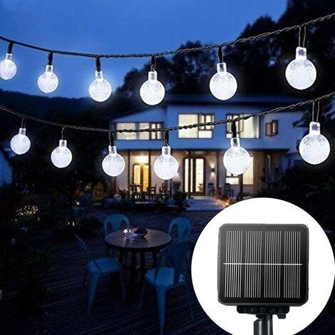 Solar String Lights Garden, 30 Waterproof Crystal Ball LED Fairy Lights Outdoor Solar Powered Lights, Decorative Lighting for Home, Garden, Party, Festival [Energy Class A+++]