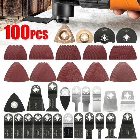 100pcs Multifunction Tool Universal Saw Blades, Accessories Oscillating Tools Multifunction, Oscillating Saw Blade for Bosch Dewalt Makita Cut Wood Corners Tiles Nail (100pcs)