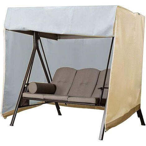 Waterproof 2 Seater Garden Swing Cover, 210D Oxford Waterproof Anti-UV Swing Cover Protective Cover Outdoor Swing, 160 × 120 × 170cm