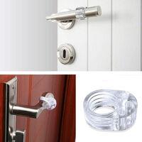 Door stops, 6 pieces rubber door upgraded door stop silicone, stop-doors door handle stopper door bumper protective wall blocker door anti-door Vanable door handle