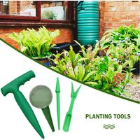 Seeder for Garden Tools Easy to Use Sort Mini Gardening Tools for Hand Sowing Furnishing Plow Seed Planter Tool Kit Drink Gardening Tools (8 Rooms, Green)