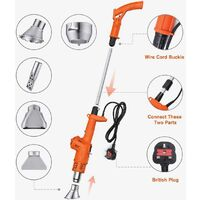 Electric weeder, thermal gun, lighter barbecue 3in1, weed burner, powerful weeding tool, 80-650 ℃