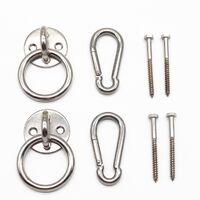 Interior hammock suspension kit with carabiner brackets and stainless steel screws