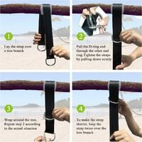 Hammock straps suspension straps for swing, 150cm outdoor hammock straps with safety carabiners for shaft swing and hammocks max.