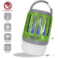 Outdoor camping lamp multifunctional anti-mosquito campsite mosquito lighting USB rechargeable laptop tent light green