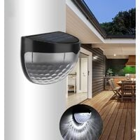 Exterior solar lamp, with star lighting, solar fence light, interior and outdoor with automatic detection sunlight for road, garden, stairs - 8pcs