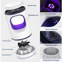 Mosquito anti mosquito lamp, exterior anti mosquito, LED lamp for UV interior Non toxic mosquito killer / no radiation / silent operation (white)