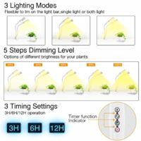 Plant Lighting, Plant Light, 2 Plant Growth Lamps, 45W-USB, Plant Filling Light