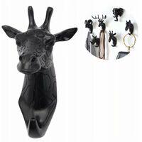 Coat holder and towel rack wall hook wall coat holder wrench black giraffe (
