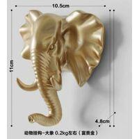 Coat rack and coat rack towel rack Wall-mounted hook Key coat carrier Golden elephant (