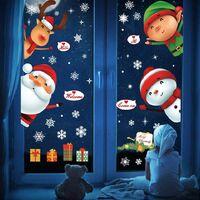 Christmas Sticker Decoration, Glass Window Sticker Girl Sticker Sticker PVC Wall Sticker Window Sticker Flower Santa Flake Snow Flake