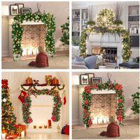 Christmas tree garland 270 cm, artificial tree Christmas tree decorated LED lights for christmas tree doorway stair chimney (blue) (