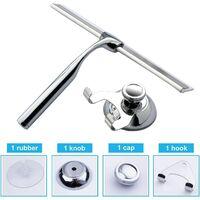 Shower wiper Stainless steel wiper household cleaning scraper for bathroom window 25.8 x 16.5 cm (